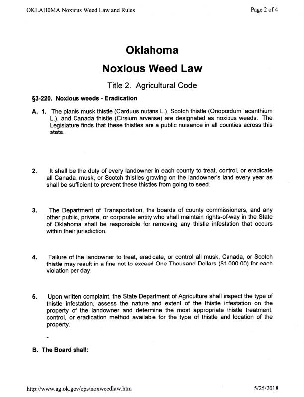 OK Noxious Weed Law p2